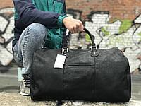 Мужская черная сумка из натуральной кожи David Jones