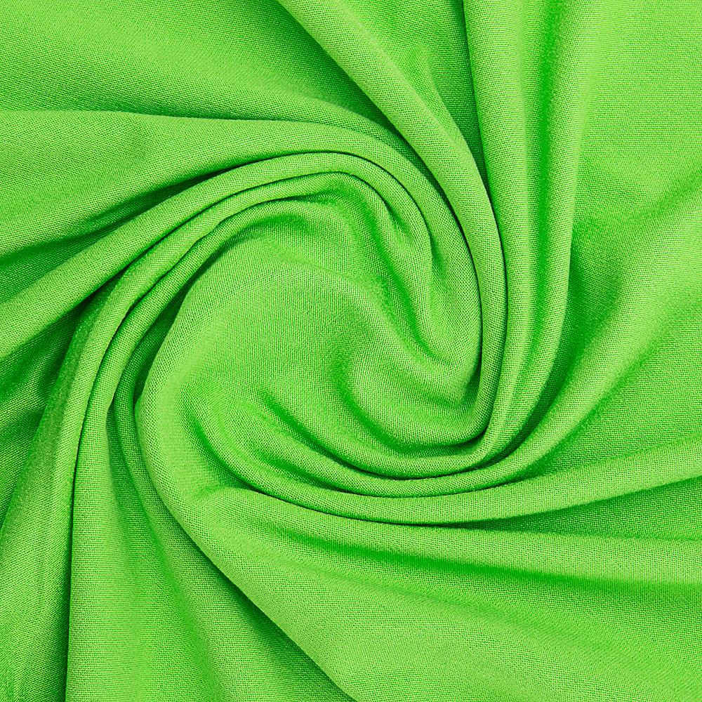 Ткань трикотажная Вискоза зеленая, опт от рулона, купить вискозу в Украине