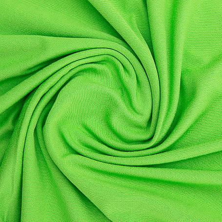 Ткань трикотажная Вискоза зеленая, опт от рулона, купить вискозу в Украине, фото 2