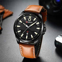 Мужские наручные часы Curren 8379 Black-Brown (+Видеообзор)