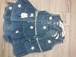Плаття джинсове з квіточками 110,116,122,128