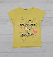 Футболки для дівчаток із сердечком жовті та розові від 1-6