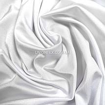 """Трикотаж бифлекс """"купальник"""" блестящий белый, фото 2"""