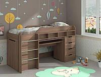 Кровать-чердак Легенда, детская и подростковая кровать со столом