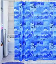 Виниловая штора для душа с фотопринтом (плотный винил,яркий фотопринт) 180х180 см