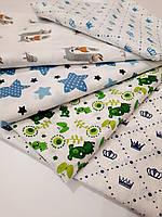 Детская пеленка 95*110 ситцевая большая для новорожденного мальчика в роддом цвета в ассортименте