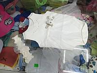 боди платье для девочки с повязкой р.62 - 80