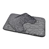 Комплект 2 плюшевих килимка «Галька» 50×80 см чорний, фото 9