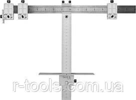 Шаблон для разметки отверстий Т-образный 250 мм + чехол YATO YT-44130