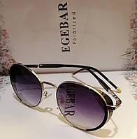 Брендовые солнцезащитные, женские очки, с боковинками, дымчатая линза. Овал, фото 1