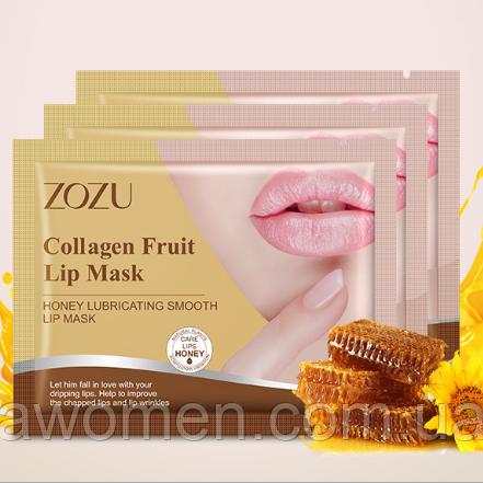 Маска для губ ZOZU Honey Collagen Honey с экстрактом меда 8 g