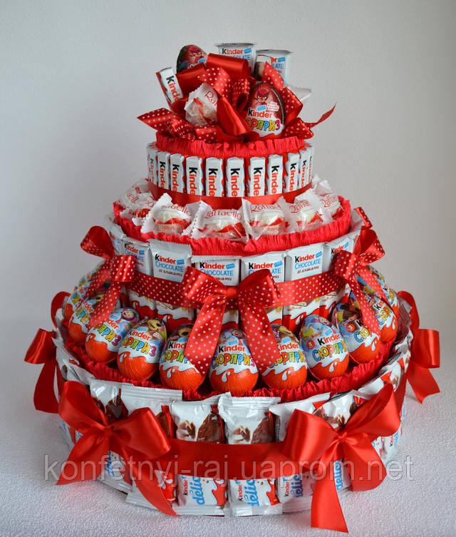 Подарок любимой из киндер шоколада