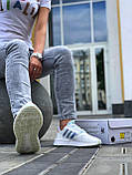 Женские кроссовки Commonwealth adidas Consortium ZX 500 в стиле адидас коммонвелс белые (Реплика ААА+), фото 3