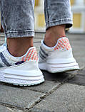 Женские кроссовки Commonwealth adidas Consortium ZX 500 в стиле адидас коммонвелс белые (Реплика ААА+), фото 4