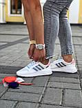 Женские кроссовки Commonwealth adidas Consortium ZX 500 в стиле адидас коммонвелс белые (Реплика ААА+), фото 6