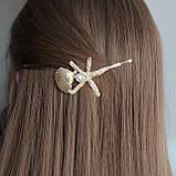 """Шпилька для волосся """"Коштовності моря"""" золотиста, фото 5"""