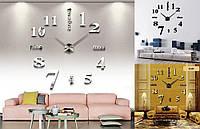 Большие бескаркасные часы на стену с 3Д эффектом арт.001 3D Diy Clock