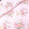 Ткань сатин розы в букетах на светло-розовом, ш. 160 см
