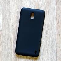Ультратонкий силиконовый чехол Candy для Nokia 2 (черный)