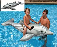 Детский надувной плотик Intex 58535 Дельфин, 175 х 66 см