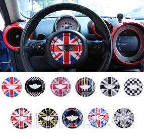 Декоративная наклейка в центр руля MINI Cooper One R54 R55 R56 R60 R61 Clubman Countryman