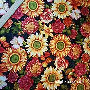 56010 Премиум цветение. Ткань с изображением цветов. Прованс., фото 3