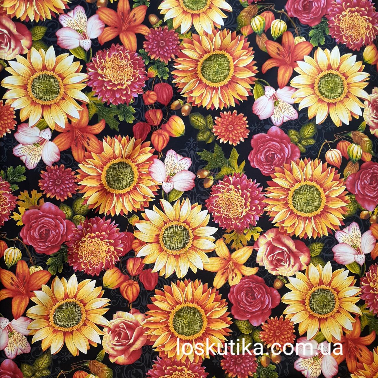 56010 Премиум цветение. Ткань с изображением цветов. Прованс.