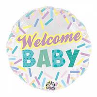 Фольга 45см., Welcome baby, арт. AS-172