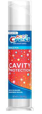 Детская зубная паста, Crest Kid's Cavity Protection Sparkle Fun,119 грамм, с дозатором