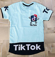 """Детская футболка для мальчика """"Tik Tok"""" 5-8 лет, цвет уточняйте при заказе, фото 1"""