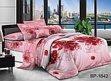 Полуторный комплект постельного белья 3D Полуторний комплект постільної білизни 1.5-спальный BP1842, фото 2