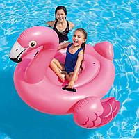 Детский надувной плот оригинал Intex Фламинго  Размеры 142х137