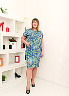 Платье джинс- коттон большие размеры(54,56,58,60)