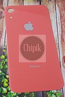 Стекло задней крышки для Apple iPhone XR, 10R, розовое