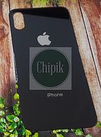 Стекло задней крышки для Apple iPhone XS, 10S, черное