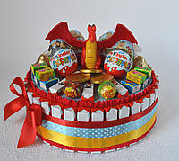Торт из Киндер шоколадок и яиц