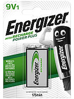 Аккумулятор Energizer Recharge Power Plus, Крона, 175 mAh, Ni-MH, блистер 1 шт