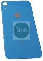 Стекло задней крышки для Apple iPhone XR, 10R, голубое