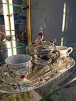 Уникальный набор чай-кофе.Посеребрение.