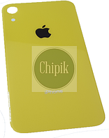 Стекло задней крышки для Apple iPhone XR, 10R, желтое