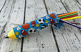 Пенал Пластиковый Карандаш S-1631 Мячи 9692Ф