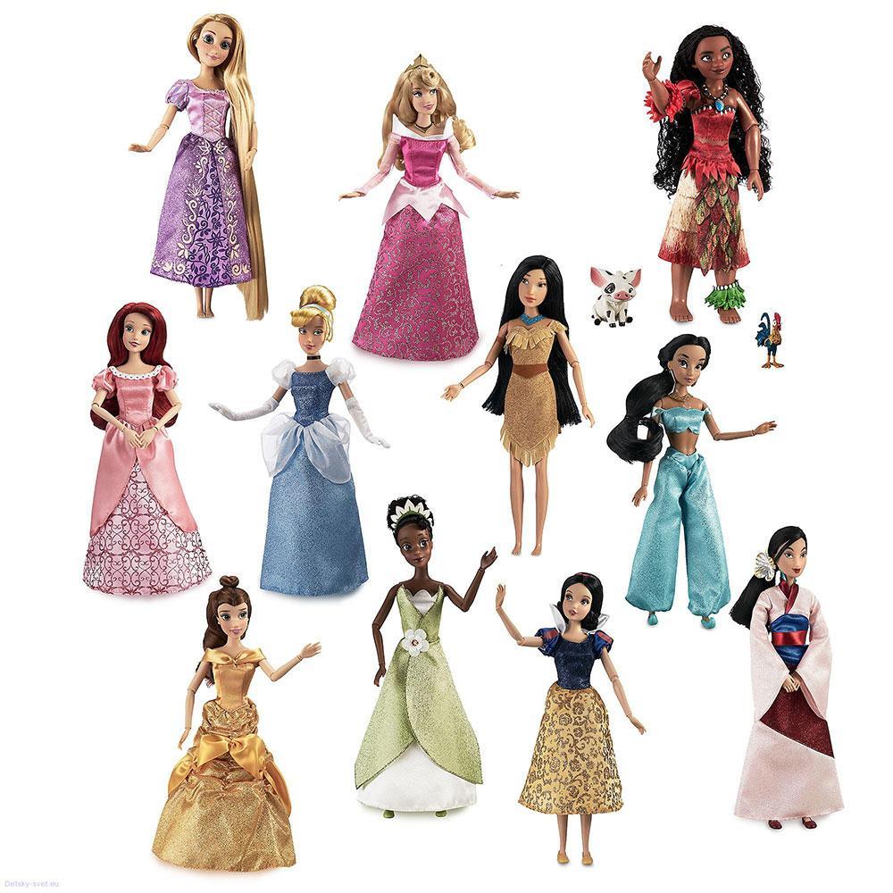 Disney Подарочный набор классических кукол принцессы Диснейя 11 шт deluxe disney princess classic dolls gift