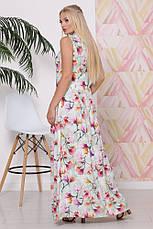 Легкое женское платье в пол, Батал, в расцветках, р.50-58, фото 3