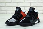 Мужские кроссовки Adidas Black & Red EQT Bask ADV (черно-красные с белым) 11809, фото 2