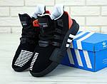 Мужские кроссовки Adidas Black & Red EQT Bask ADV (черно-красные с белым) 11809, фото 3