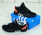 Мужские кроссовки Adidas Black & Red EQT Bask ADV (черно-красные с белым) 11809, фото 5