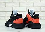 Мужские кроссовки Adidas Black & Red EQT Bask ADV (черно-красные с белым) 11809, фото 6