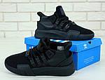 Чоловічі кросівки Adidas EQT (чорні) 11792, фото 3