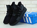 Чоловічі кросівки Adidas EQT (чорні) 11792, фото 5