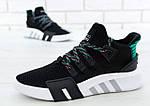 Чоловічі кросівки Adidas EQT Bask ADV (чорно-білі) 11591, фото 2